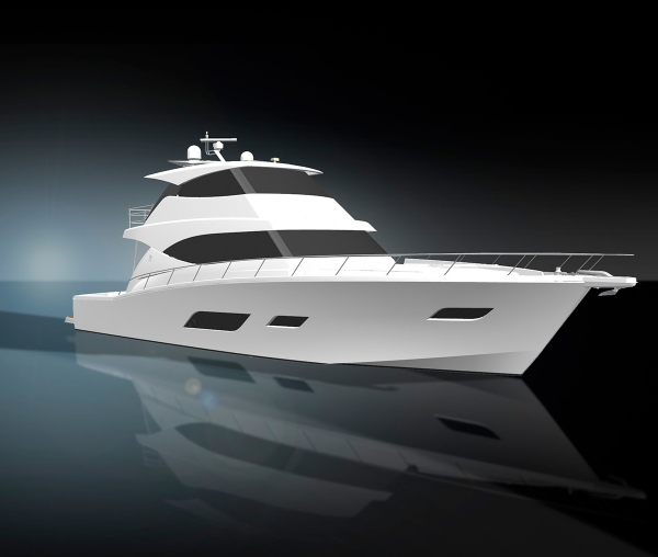 Sports Motor Yacht 01 graphic render image