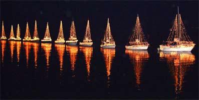Sidney sparkles lighted boat parade