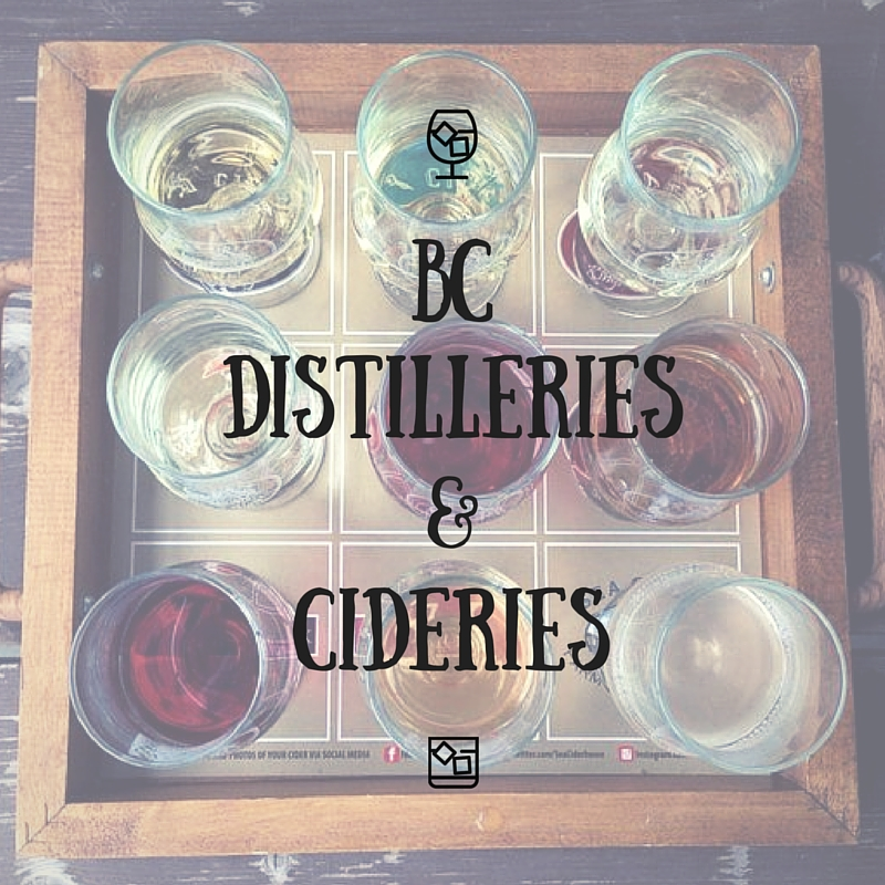 BC Distilleries and Cideries