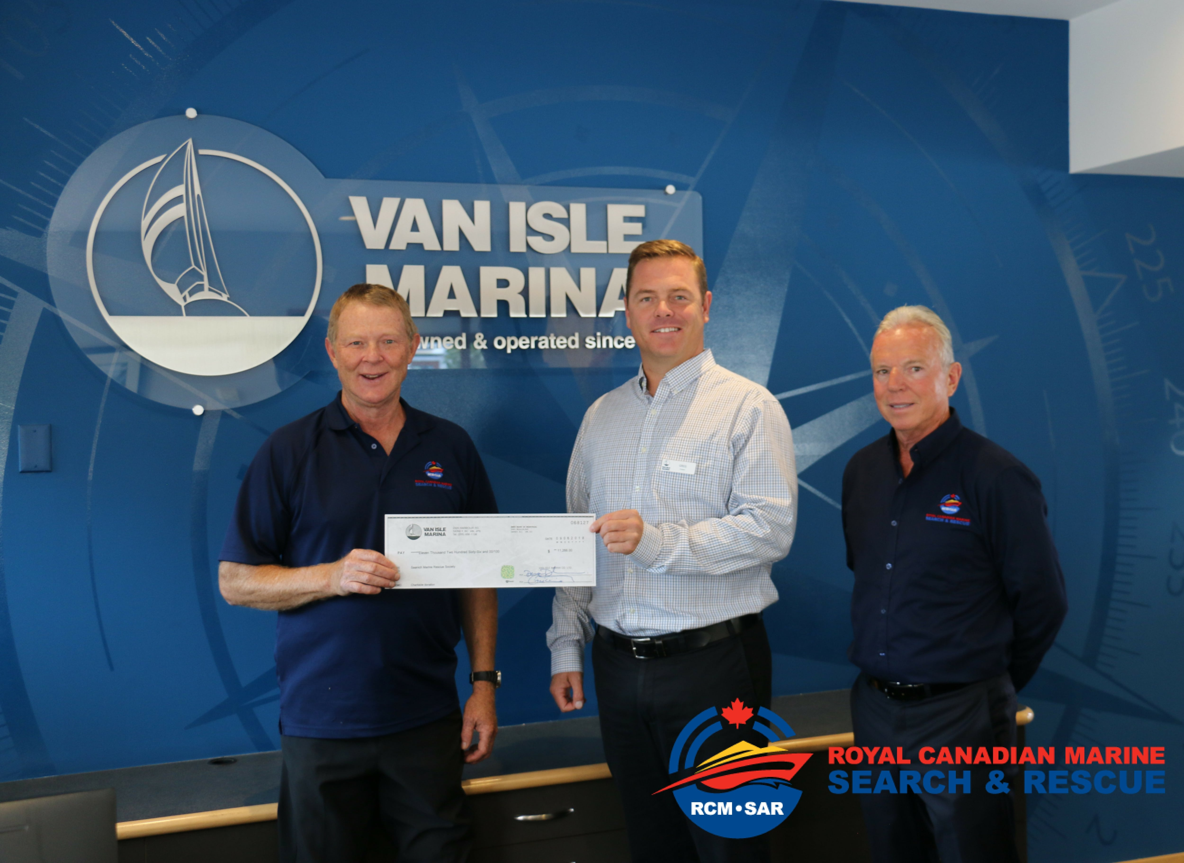 Van Isle Marina Donates to Royal Canadian Marine Search and Rescue