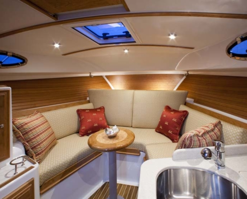 Life on a Yacht - living area
