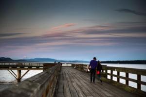 romantic pier in Sidney BC