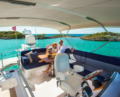 Belize Motor Yacht - 54 Daybridge out at sea
