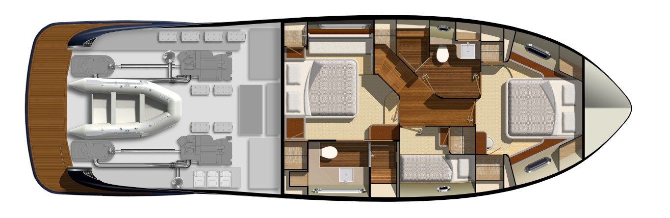 Belize Motor Yacht - 54 Daybridge accommodation