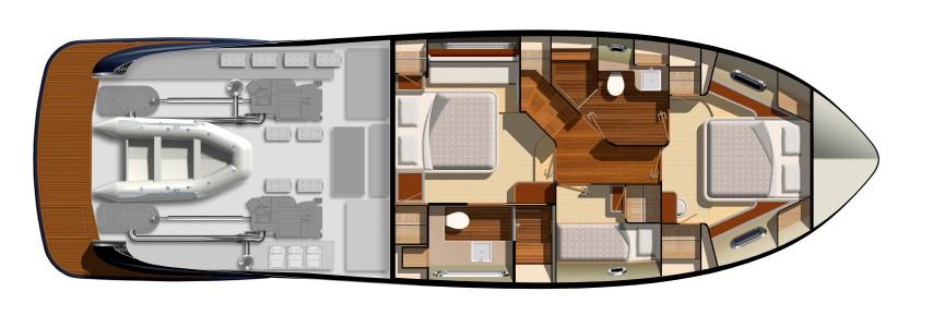 Belize Motor Yacht - 54 Sedan accommodations