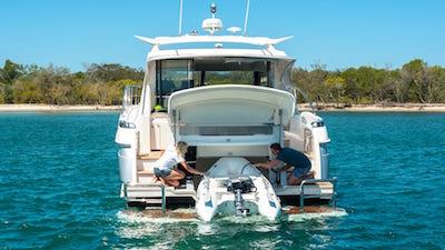 proper yacht tender storage