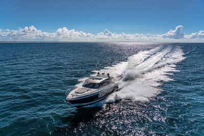 Riviera 5400 Sport Yacht Platinum Edition available at Van Isle Marina