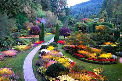 Tourist Attractions on Vancouver Island - Butchart Gardens