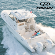Pursuit OS355 Offshore at Van Isle Marina