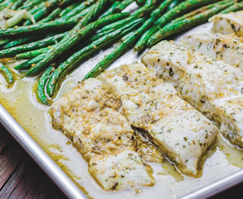 One-pan Mediterranean Baked Halibut Recipe