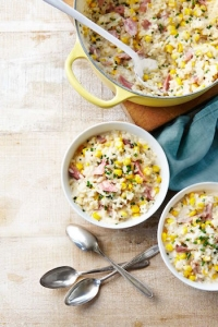 Best One Dish Meals - Corn and Ham Risotto
