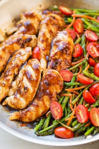 Best One Dish Meals - one pan balsamic chicken and veggies