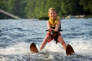 family boating activities - Water Skiing