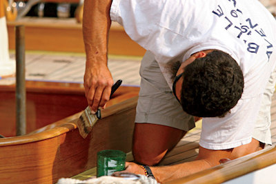 renovating yachts - strip the paint and varnish