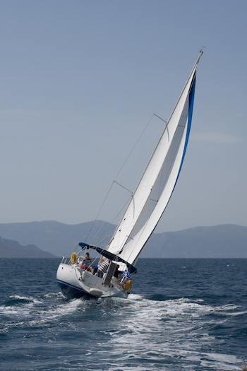 Boat terms and terminology - Heeling Sailboat