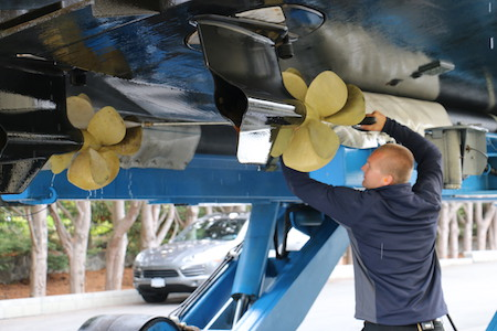 boat maintenance checklist - check propellers