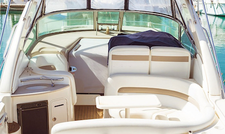 boat maintenance checklist - clean the upholstery