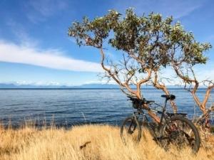 Biking Galiano Island, British Columbia