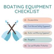 boating equipment checklist